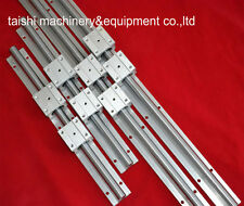 linear rail SBR16-1300/800mm(4 supporter rails+ 8 SBR16UU blocks) for CNC