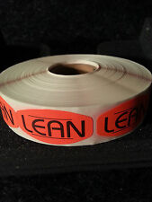 LEAN LABELS 1000 PER ROLL 1M/RL free shipping STICKERS