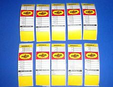 Lot of 10 PENNZOIL Automobile Oil Change Door Jamb Stickers - Gas Station - Shop