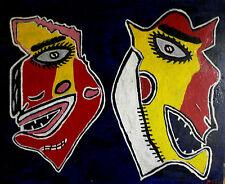 olio su tela le maschere di mirella thimirri allieva e modella di tano festa