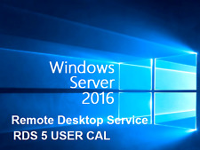 Microsoft Windows Server 2016 Remote Desktop Services RDS 5 USER CAL License