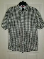 The North Face Men's Vented Plaid Button Up Shirt Size Medium Blue Yellow Pocket