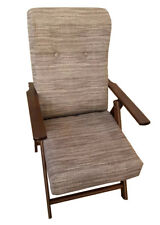 Poltrona molisana  in legno reclinabile in 4 posizioni varie fantasie