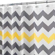 Chevron Shower Curtain 72 x 72-Inch Gray/Yellow Bath Repellent Fabric Quality