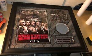 UFC 100 Poster Event Used Ring Mat Signed Auto Walkout Shirt - SEG Era Pride Fc