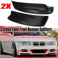 Racing Real Carbon Fiber Front Splitter Bumper Lip Spoiler For BMW E46 M3