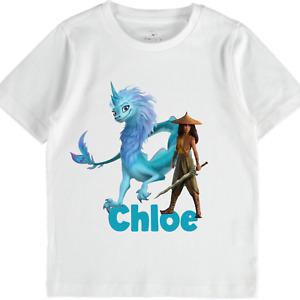 Personalised Raya Last Dragon TShirt girls boys Baby Toddlers clothes Gift top