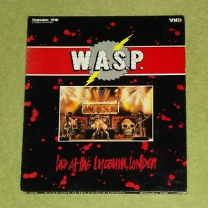W.A.S.P. Live At The Lyceum, London 1984 - JAPAN VHD VIDEO DISC (LaserDisc) WASP