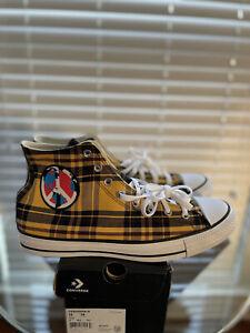 Converse CTAS Hi Yellow / White / Black / Burgundy Shoe Mens US 13