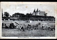 SULLY-sur-LOIRE (45) TENTES de PLAGE animées & CHATEAU en 1934