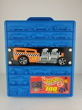 Vintage Hot Wheels 3D 100 Car Carrying Case/Rolling With Telescopic Handle