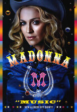 Madonna - Music (2000) original promo poster - single-sided - rolled