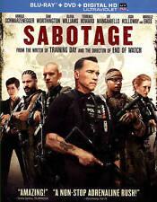 Sabotage (Blu-ray/DVD, 2014, 2-Disc Set) No Ultraviolet Copy Disc Only