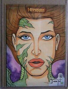 Witchblade-Jon Racimo-Top Cow-Breygent-Signed-Comic-Drawing-Art-Sketch Card