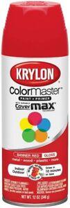 New KRYLON Banner Red SPRAY PAINT 1 Can 12 Oz Indoor / Outdoor Gloss K02725007