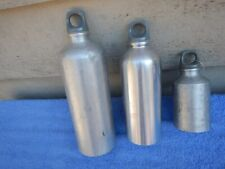 3 Vintage Sigg Fuel Stove Bottles Bottle Silver Backpacking Camping