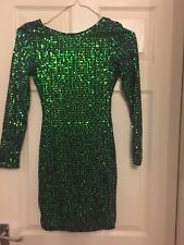Gorgeous Sequined Motel Rocks Mini Dress Size XS Size 8 In Blue/green