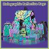 丶Geometric Luminous Backpacks Holographic Reflective Bag Irredescent Crossbody