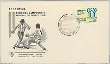 54379 - FOOTBALL - ARGENTINA -  POSTAL HISTORY: 1978  FDC Cover