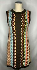 Missoni for Target Shift Dress Size Small Sleeveless Chevron Knit Multicolor
