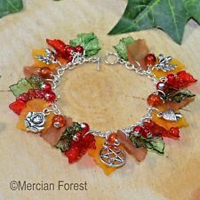 La pulsera de jardín de otoño-Pagano Joyería, Wicca, bruja, otoño, equinoccio