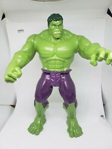 """THE INCREDIBLE HULK TITAN SERIES MARVEL COMICS 11.5"""" TOY ACTION FIGURE 2013 USED"""