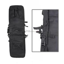 "47"" Tactical Case Bag For Fishing Rod Double Carbine Rifle Weapons Bag Black OUR"