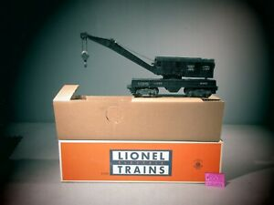 Lionel 6460 Black Crane Car  w/ box.