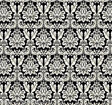 NOEL Damask noir patchwork substances Noël Patchwork de Noël Tissu substances