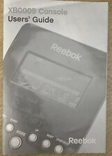 Reebok xb0009 Console Exercise Bike Instruction Manual / User's Guide ONLY