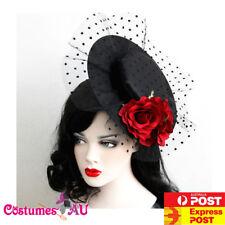 Top Hat Net Burlesque Fascinator Vintage Lace Vine Halloween Costume Accessories