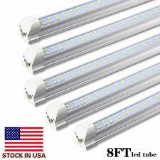 JESLED 8 Pack T8 Integrated 8FT LED Tube Light Bulbs 72W 6000K 7200LM Shop Light