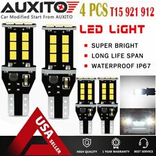 4X AUXITO T15 921 912 LED Reverse Backup Light White for Toyota Honda Lexus EOA