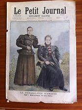 ?Le petit Journal 8/11/1896; La Réhabilitée d'Amiens; Mme Druaux et sa fille