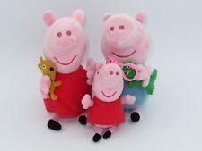 Peppa Pig George Pig Plush Doll Toy Stuffed Animal LOT Ty Beanie Baby Keychain