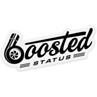 Boosted Status Decal / Sticker - Black - Boost Turbo