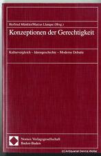 Konzeptionen der Gerechtigkeit v. Herfried Münkler 3789058955