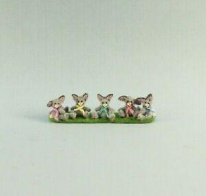 OOAK~Bunny Rabbits~Easter~Micro Mini~Artist Doll~Baby Toy~Dollhouse~Cheryl Brown
