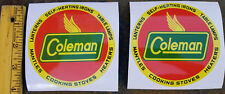 ONE (1) NEW COLEMAN 1940s ROUND STORE SIGN BUMPER STICKER DECAL LANTERN STOVE