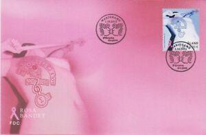Rosa Pink Bandet Cancer Aland Finland Pink Mint FDC 2012