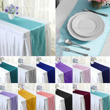 """12""""×108"""" Satin Wedding Table Runner Holiday Party Banquet Decoration 12 Colors"""