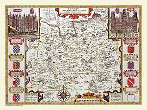 Surrey 1611 John Speed 1000 Piece Jigsaw Puzzle (jg)
