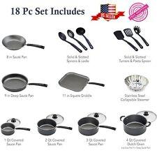 18-PIECE COOKWARE SET Pots Pans Non Stick Cooking Aluminum Professional Kitchen