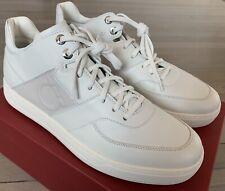 $650 Salvatore Ferragamo Cliff White Sneakers Size US 11 Made in Italy