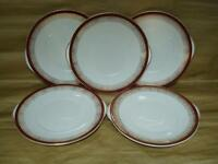ROYAL GRAFTON MAJESTIC RED 2 HANDLED CAKE / BREAD & BUTTER PLATES X 5