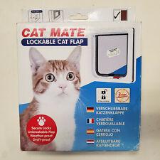 Petmate Cat Mate Lockable Cat Flap White 304W 2 way locking