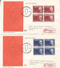 New listing 1963 Greenland lot of 2 First Day Covers; Niels Bohr topical *a