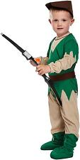 Toddler Boy Robin Hood Fancy Dress Up Party Costume Age 3 World Book Day NEW