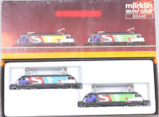 Märklin Z #88446 Swiss Class 460 Twin Electric Locomotive Set, New in Box 1998