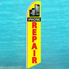 iPhone REPAIR FLUTTER FEATHER FLAG Cell Phone Advertising Sign Swooper Banner